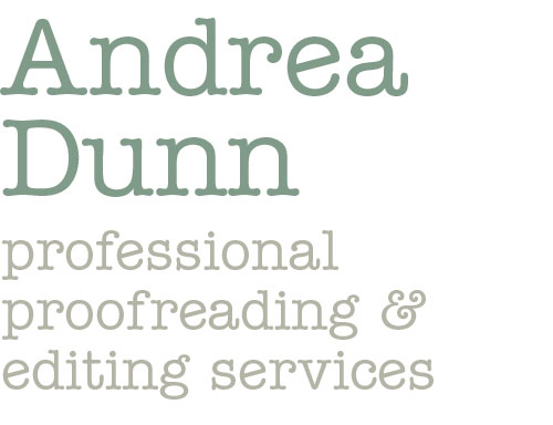 Andrea Dunn proofreading services petersfield hampshire